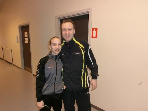 Sofie og Carsten Egeholt ved DM 2012 i bordtennis